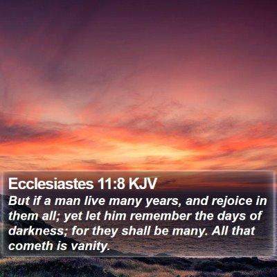Ecclesiastes 11:8 KJV Bible Verse Image