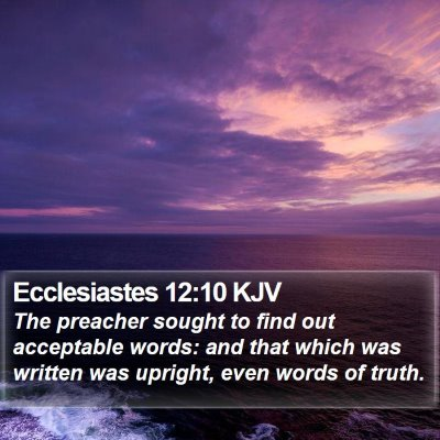 Ecclesiastes 12:10 KJV Bible Verse Image