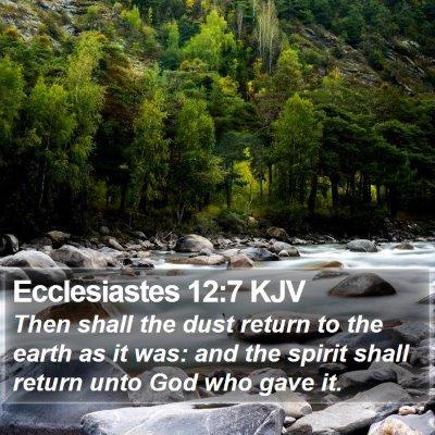 Ecclesiastes 12:7 KJV Bible Verse Image