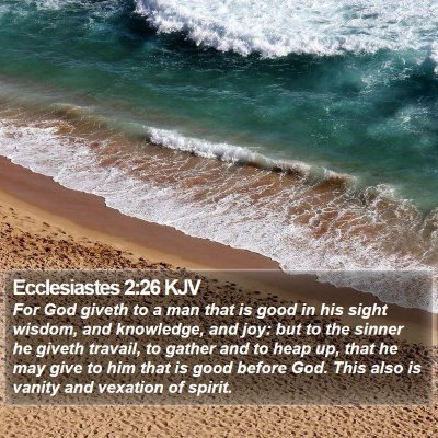 Ecclesiastes 2:26 KJV Bible Verse Image