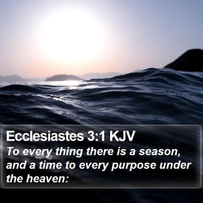 Ecclesiastes 3:1 KJV Bible Verse Image