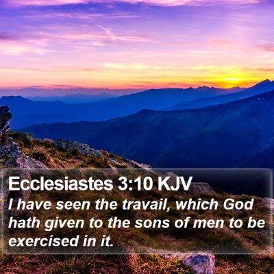Ecclesiastes 3:10 KJV Bible Verse Image
