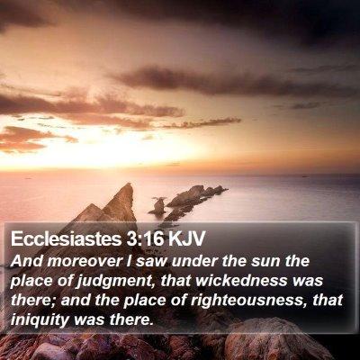 Ecclesiastes 3:16 KJV Bible Verse Image