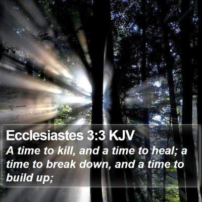 Ecclesiastes 3:3 KJV Bible Verse Image