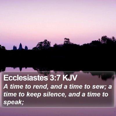 Ecclesiastes 3:7 KJV Bible Verse Image