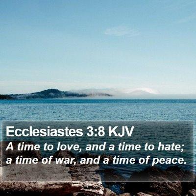 Ecclesiastes 3:8 KJV Bible Verse Image
