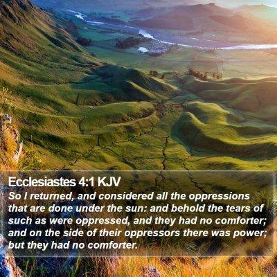 Ecclesiastes 4:1 KJV Bible Verse Image