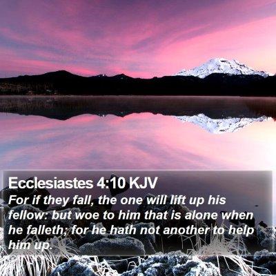 Ecclesiastes 4:10 KJV Bible Verse Image