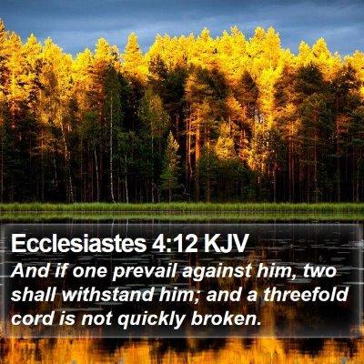 Ecclesiastes 4:12 KJV Bible Verse Image