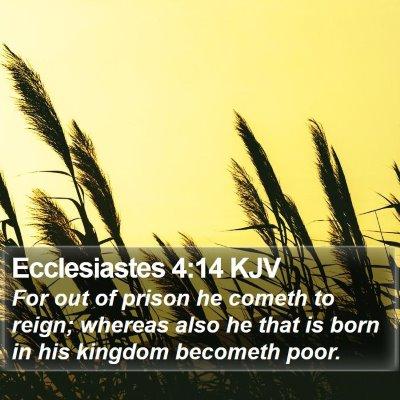Ecclesiastes 4:14 KJV Bible Verse Image
