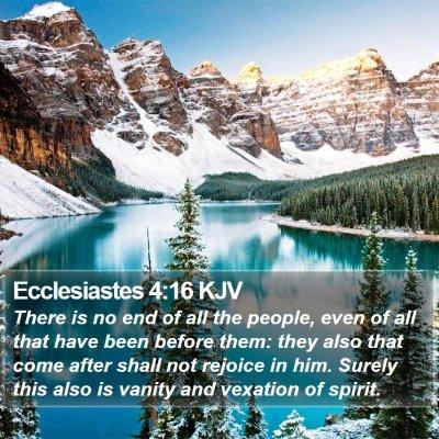 Ecclesiastes 4:16 KJV Bible Verse Image