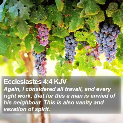 Ecclesiastes 4:4 KJV Bible Verse Image