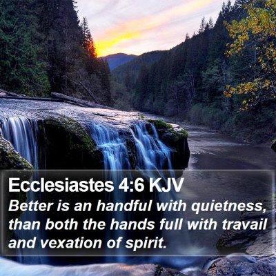 Ecclesiastes 4:6 KJV Bible Verse Image