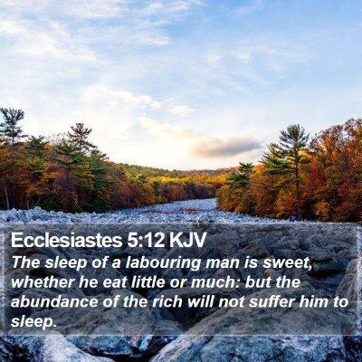 Ecclesiastes 5:12 KJV Bible Verse Image