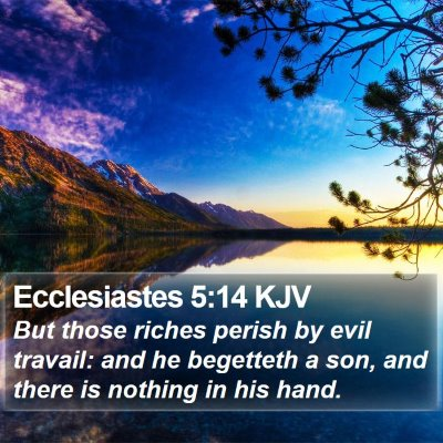 Ecclesiastes 5:14 KJV Bible Verse Image