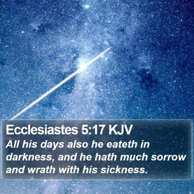 Ecclesiastes 5:17 KJV Bible Verse Image