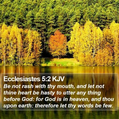Ecclesiastes 5:2 KJV Bible Verse Image
