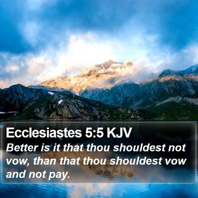 Ecclesiastes 5:5 KJV Bible Verse Image