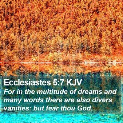 Ecclesiastes 5:7 KJV Bible Verse Image