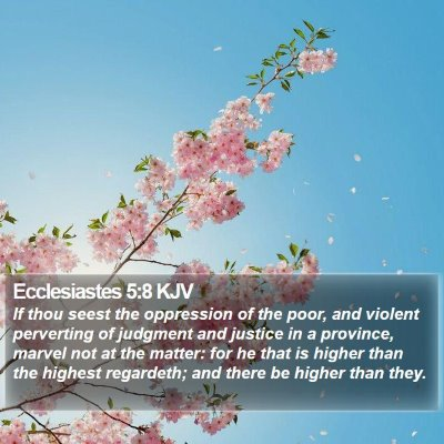Ecclesiastes 5:8 KJV Bible Verse Image