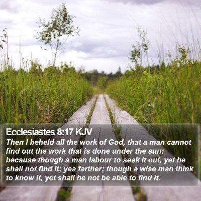 Ecclesiastes 8:17 KJV Bible Verse Image
