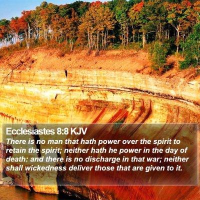 Ecclesiastes 8:8 KJV Bible Verse Image