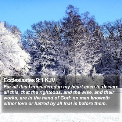 Ecclesiastes 9:1 KJV Bible Verse Image