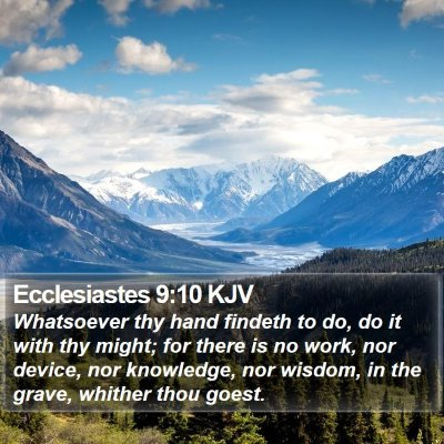 Ecclesiastes 9:10 KJV Bible Verse Image