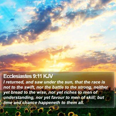 Ecclesiastes 9:11 KJV Bible Verse Image