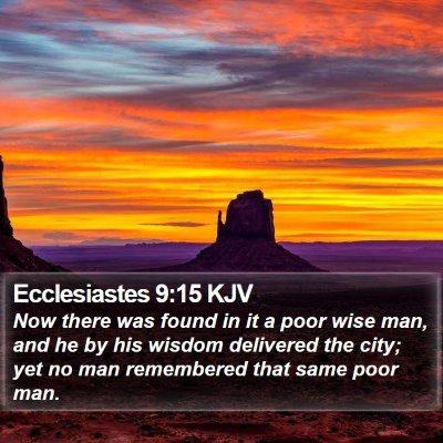 Ecclesiastes 9:15 KJV Bible Verse Image