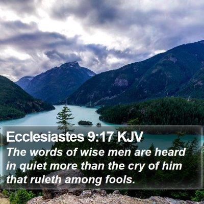 Ecclesiastes 9:17 KJV Bible Verse Image