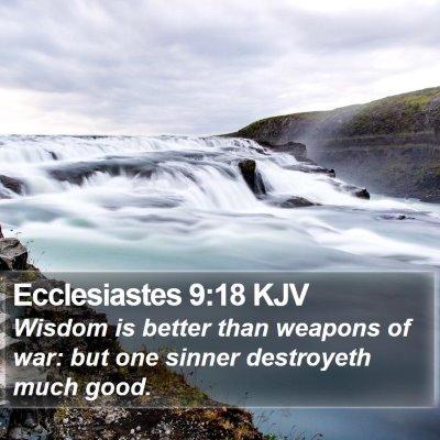 Ecclesiastes 9:18 KJV Bible Verse Image