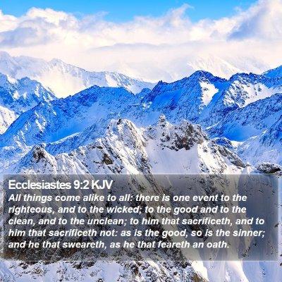 Ecclesiastes 9:2 KJV Bible Verse Image