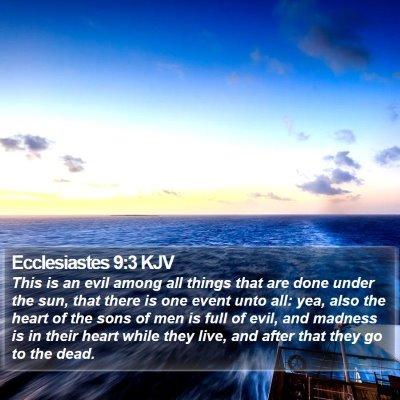 Ecclesiastes 9:3 KJV Bible Verse Image