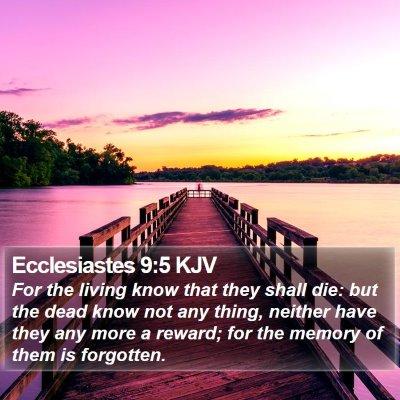 Ecclesiastes 9:5 KJV Bible Verse Image