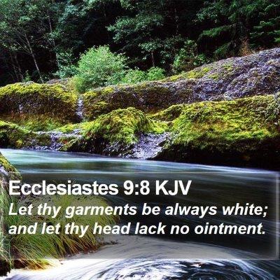 Ecclesiastes 9:8 KJV Bible Verse Image