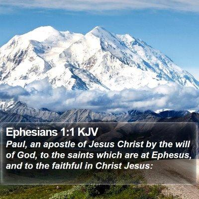 Ephesians 1:1 KJV Bible Verse Image