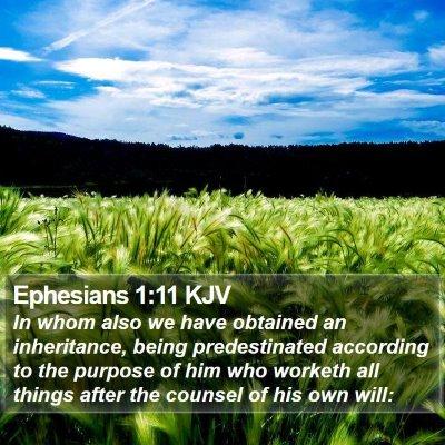 Ephesians 1:11 KJV Bible Verse Image