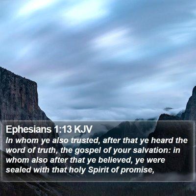 Ephesians 1:13 KJV Bible Verse Image