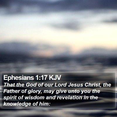 Ephesians 1:17 KJV Bible Verse Image