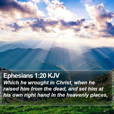 Ephesians 1:20 KJV Bible Verse Image