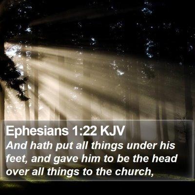 Ephesians 1:22 KJV Bible Verse Image