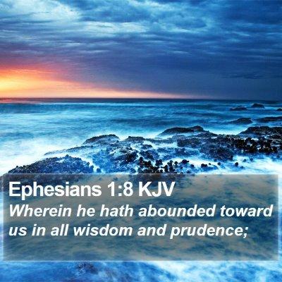 Ephesians 1:8 KJV Bible Verse Image