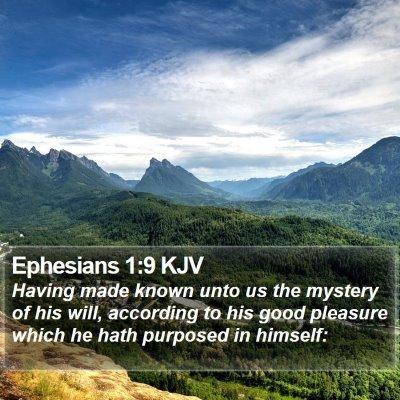 Ephesians 1:9 KJV Bible Verse Image