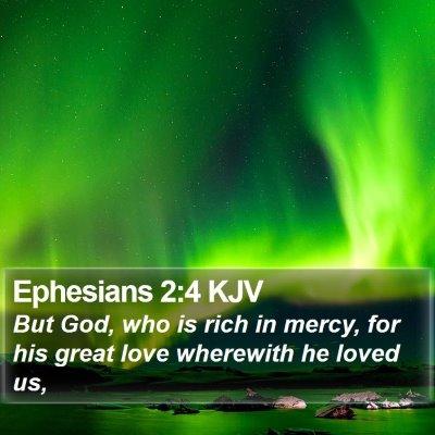 Ephesians 2:4 KJV Bible Verse Image