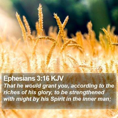 Ephesians 3:16 KJV Bible Verse Image
