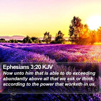 Ephesians 3:20 KJV Bible Verse Image