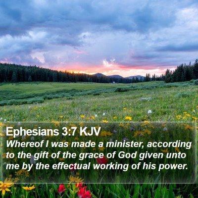 Ephesians 3:7 KJV Bible Verse Image