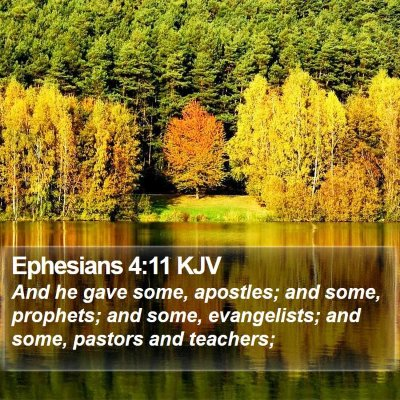 Ephesians 4:11 KJV Bible Verse Image