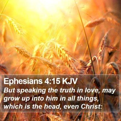Ephesians 4:15 KJV Bible Verse Image